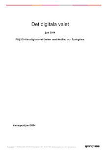 Det digitala valet - rapport för juni 2014