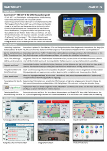 Datenblatt Garmin dēzlCam 785 LMT-D EU