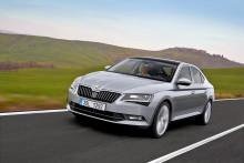 Nya SKODA Superb får fem stjärnor i Euro NCAP