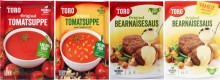 Tilbakekalling av bearnaisesaus og tomatsuppe