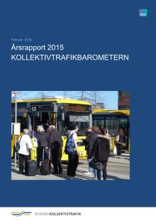 Årsrapport Kollektivtrafikbarometern 2015 med analyser och sammanfattningar
