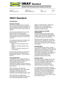 Hur IKEA av leverantörer köper produkter, material och tjänster (IWAY)
