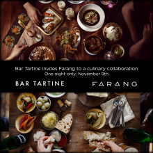 Farang gästar Bar Tartine i San Fransisco 9 november.