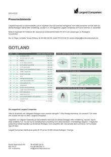 Topplista – Gotlands största företag
