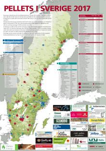 Bioenergis karta: Pellets i Sverige 2017