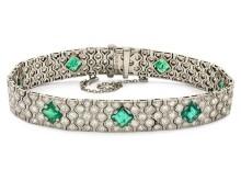 Art Deco-smycken gav intensiv budgivning