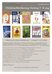 FÖRFATTARFÖRELÄSNINGAR I VARBERG 7-8 AUGUSTI