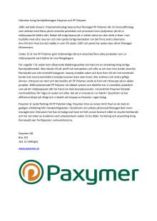 Paxymer och PP Polymer