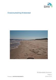 Erosionsutredning Kristianstad. DHI-rapport 180206