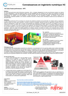 Calcul haute performance  - HPC FR