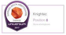 Knightec på åttonde plats som Sveriges bästa arbetsgivare