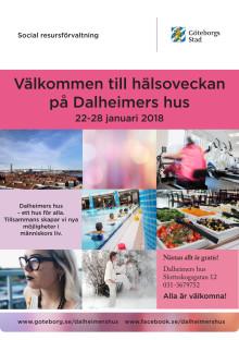 Program hälsoveckan Dalheimers hus 2018