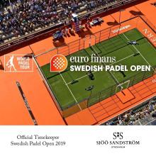 Sjöö Sandström - Official Timekeeper för Swedish Padel Open
