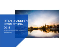 Detaljhandeln i Eskilstuna 2015