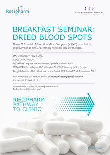 Invitation Seminar Blood Spots
