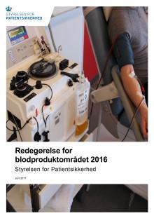 Redegørelse for blodproduktområdet 2016