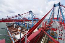 Fortsatt rekordsvaga siffror i Göteborgs Hamns containerterminal