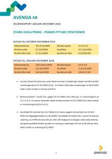 Delårsrapport Q4 2018 och bokslutskommuniké