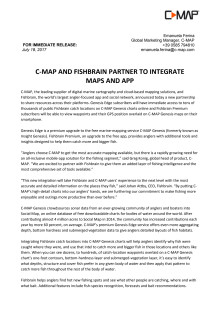 C-MAP and Fishbrain Partner to Integrate Maps and App