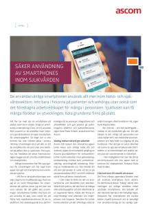 Säker användning av smartphones inom sjukvården