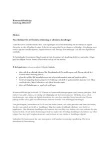 Motion - Nya riktlinjer för att förenkla utlämning av allmänna handlingar