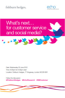 What's Next… for customer service and social media?