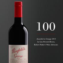 100 poäng till Penfolds Grange 2013 i Robert Parker's Wine Advocate!