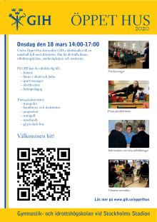 Välkommen till GIH:s Öppet hus den 18 mars