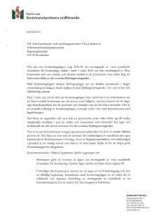 Brev till arbetsmarknads- och etableringsminister Ylva Johansson
