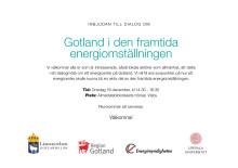 Inbjudan till dialogmöte om Gotland i den framtida energiomställningen