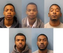 Five men jailed for over 40 years for weapons offences