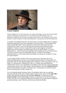 Tommie Haglund - Biografi