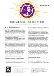 Livrustkammaren Bilder av Kristina pressinformation med faktablad, biografi, pressbilder 2013-04-17 svenska