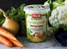 Ekologisk blomkålssoppa följer upp succén med mustiga soppor från Felix