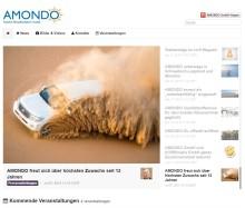 AMONDO mit neuem Presseauftritt