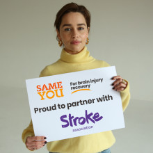 Stroke Association statement on partnering with Emilia Clarke and SameYou