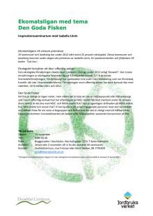 Program DEN GODA FISKEN, 12 nov 2013