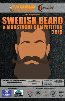 Swedish Beard & Moustache Competition 2016 avgörs nästa helg!