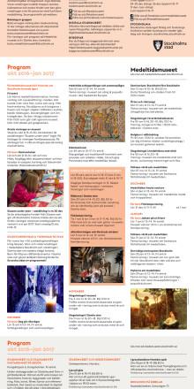 Program höst/vinter 2016/2017 Stadsmuseet och Medeltidsmuseet
