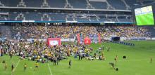 Över 5 000 följde Sveriges match på Friends Arena