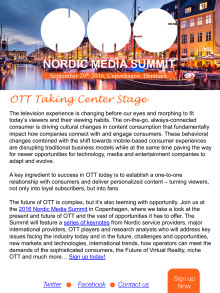 Nordic Media Summit, Copenhagen September 29th 2016– unmissable Learning & Networking