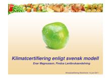 Presentation - Enar Magnusson - Findus Matseminarium 14 juni