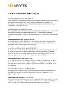 KRONANS BARNSORTIMENT - PRODUKTER & PRISER