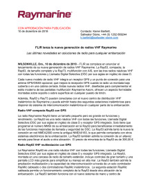 FLIR lanza la nueva generación de radios VHF Raymarine