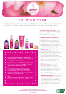 Samlingsblad Wild Rose Body Care