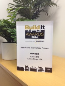 Aritco vinnare av Best Home Technology Set-up / Installation på Build It Awards 2014
