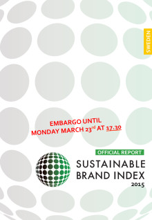 Sustainable Brand Index 2015- Official report Sweden in English