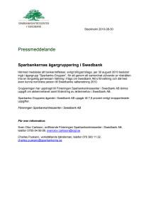 Sparbankernas ägargruppering i Swedbank