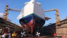 Scandlines' hybridfærge Schleswig-Holstein sejler nu mere miljøvenligt
