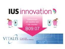 Träffa IUS innovation på Vitalismässan 2016!